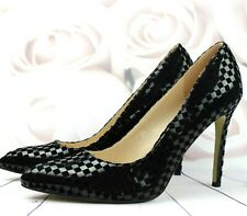 WOMENS LADIES STILETTO HIGH HEEL SMART WORK PARTY COURT SHOES IN BLACK SIZE 3-7