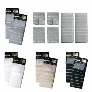 6 Piece Super Absorbent Kitchen Drying Mats + Tea Towels + Scrubbers Set by Invi