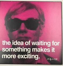 """Andy Warhol """"The idea of waiting for something..."""" Hanging Wall Home Decor"""