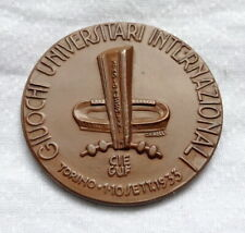 1933 International UNIVERSITY GAMES participant MEDAL Torino Mussolini Stadium