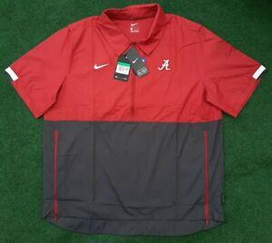 Nike On Field Alabama Crimson Tide Short Sleeve 1/2 Zip Windbreaker Mens XL