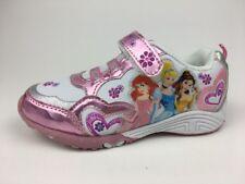 Toddler Girls Disney Princess ~ Size 10 Medium ~ Pink Met White Sneakers/Shoes