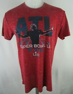 ATL Men's Super bowl LIII Short Sleeve Graphic T-shirt in Red by Hands High