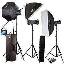 Godox  3*QS600 600Ws pro photography Studio Strobe Flash Light Kit For Wedding