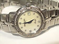 Ladies Raymond Weil Parsifal 9441 SS Date MOP Watch 0.24ct Diam Bezel $3000 RRP
