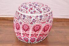 Mandala Ombre Pouf Cover Footstool Ottoman Pouf Boho Cotton Cover Seating Pouf
