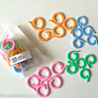 Circular stitch holders markers plastic locking for crochet knitting 20 40 60