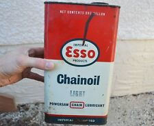 VTG Imperial Ltd ESSO Chainsaw Motor Oil 1 Gallon Can W/ handle Advertising Sign