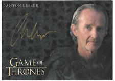 2017 Game of Thrones Valyrian Steel Anton Lesser Autograph AUTO Full Bleed