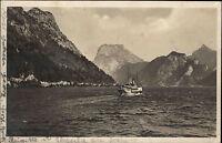 Schiffe Österreich 1925 Schiff Dampfer Traunsee Traunstein Echtfoto-AK Ship Card