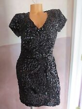 Victoria's Secret! Sequin Embellished Cocktail Club Evening Party Dress SZ:6=med
