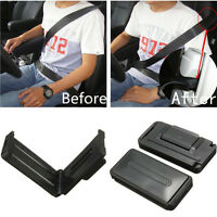 2x Black Car Seat Belt Comfort Strap Adjuster Support Clip Improve Safety Aid