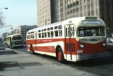 Westchester Street Transit Gm Old Look bus Kodachrome original Kodak Slide