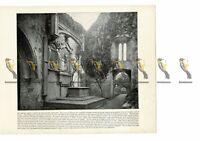 Muckross Abbey, Lakes of Killarney, Ireland, Book Illustration (Print), 1899