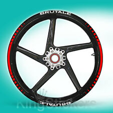 SET adesivi cerchi ruote MV AGUSTA BRUTALE stickers - TIPO 1 - wheels decals