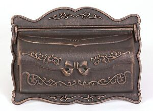 BWM-R Better Box Mailboxes Decorative Cast Aluminum Wall Mount Mail Box BRONZE