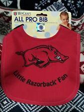 Arkansas Razorbacks Official NCAA Infant Baby Bib McArthur 201805 NEW Red