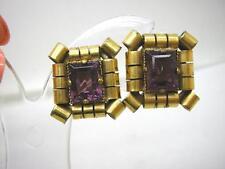 Crystal Gold Earrings Vintage Costume Jewellery