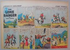Lone Ranger Sunday Page by Fran Striker and Charles Flanders from 9/29/1940