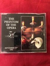 Phantom Of The Opera 3rd Anniversary Andrew Lloyd Webber 1992 Very Rare Promo CD
