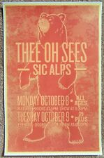 THEE OH SEES 2012 Gig POSTER Portland Oregon Concert