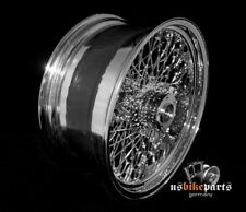 "80 Spoke Wheel 18""x8.5 with Billet Hub Harley Custom"