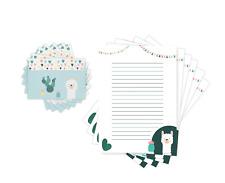 Kinder Briefpapier Lama, Briefpapier mit Linien, 20 Blatt mit Umschlag