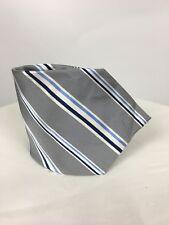 WALBUSCH Krawatte, silber grau gestreift, 100% reine Seide