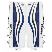 "New Vaughn Xr Velocity V7 Jr leg pads Black/Blue 22""+2 junior ice hockey goalie"