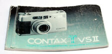 CONTAX Tvs II TvsII Instructions Manual Book User Guide