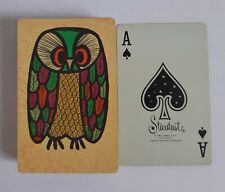 Vintage Deck of Stardust Playing Cards Colourful Owl