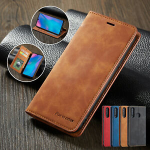 For Huawei P30 Lite P20 Mate 20 Pro Luxury Leather Wallet Flip Phone Case Cover