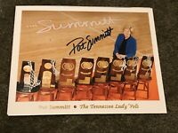 PAT SUMMITT signed autographed TENNESSEE LADY VOLS 8X10 Color Photo