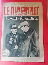 Revue Cinéma - Le Film Complet du Mardi - Rinaldo Rinaldini - 27/12/1927 - 444