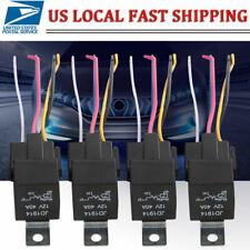 5 Pcs DC 12V Car SPDT Automotive Relay 5Pins with Harness Socket Lines 30A/40Amp