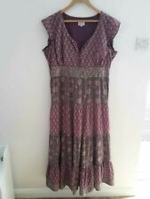 Anokhi For EAST Ladies Maxi Dress Purple Patterned Size 16