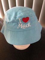 BNWT Genuine Mack Merchandise Pale Pink Cotton I Love Mack Girls Sz 54cm Sun Hat