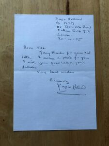 Maggie Holland The Bill Family Affairs Doctors Inscribed signed letter/autograph