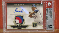 2013 Topps Tier One Nolan Ryan Autographed Relics Card BGS 8.5 Auto 10.