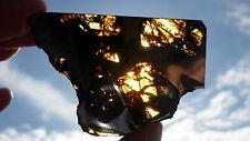 GLOWING OLIVINE - 24.7  gram FUKANG Meteorite pallasite -TRANSLUCENT