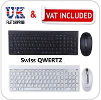 Lenovo IBM PC Slim Wireless Swiss QWERTZ Keyboard Mouse Windows Linux SK-8861