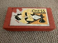 VINTAGE RETRO BOXED CHESS PIECES GAMES TOY KIDS CHRISTMAS GIFT