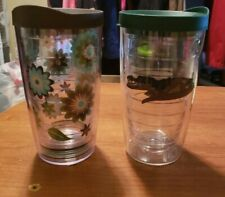 TERVIS Tumbler, 16-Ounce, fiesta and gator with lid lot of 2