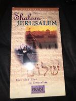"""SHALOM JERUSALEM""  VHS VIDEO"
