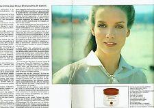 PUBLICITE ADVERTISING 116  1978  les cosmétiques Galénic pour visage crémes (2p)