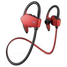 Auriculares rojos de contorno de cuello para teléfonos móviles y PDAs