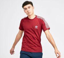 Hombre adidas Originals Adi Camiseta California Algodón Redondo 3 Rayas Retro