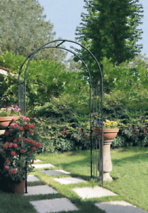 Arco in ferro da giardino Prestige Antracite per fiori rampicanti cm 120x40xh219