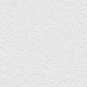 Plaster Raised White Textured Paintable Wallpaper 48903