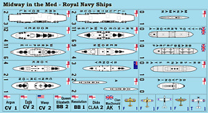 Midway in the Med Royal Navy Variant Counters